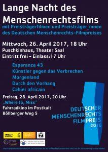 Lange Nacht des Menschenrechtsfilmpreises @ Puschkinhaus Halle
